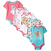 Disney Baby Nemo 5 Pack Bodysuits, Multi/Pink, 9-12 Months