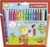 STABILO Trio Frutti - Étui carton de 18 feutres pointe moyenne (encre parfumée) - Coloris assortis