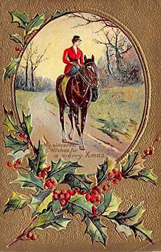 Christmas Postcard Antique Xmas Post Card Postal used unknown ()