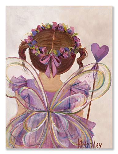 Princess Fairy Canvas - Oopsy daisy NB21010 Little Fairy Princess - Brunette Canvas Wall Art 10 x 14