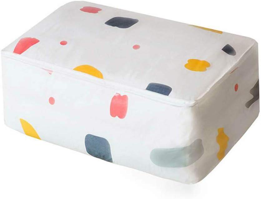 Dongjie Trapunta Borsa di stoccaggio Armadio PEVA Fiore Geometrico Stampato Antipolvere dumidit/à Tessuto scatole di immagazzinaggio per i Vestiti Giocattolo Coperta Asciugamano Organizzare Caso
