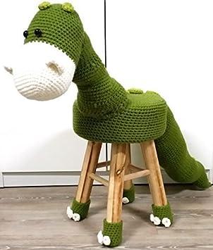 Hocker Zum Kreativen Häkeln Häkelset Dino Dino Amazonde Küche