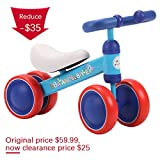 BLUE ISLAND Baby Balance Bikes Scooter Toddler Walker Infant Scooter No Foot Pedal Driving Bike Gift for Child Four Wheels