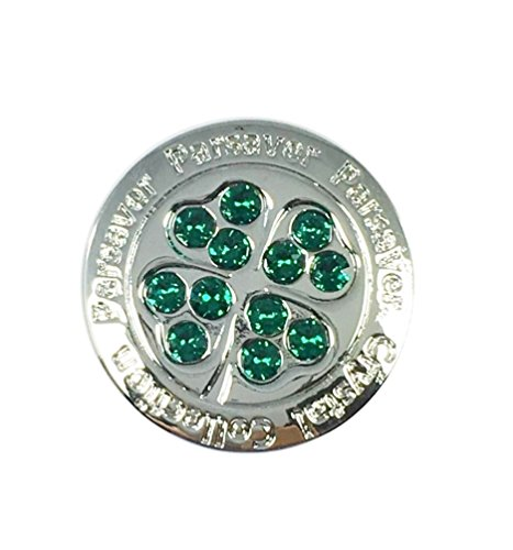 - Parsaver Swarovski Crystal Golf Ball Markers - with Hat Belt Clip - Four Leaf Clover Ball Marker - Shamrock Design - Unmatched Brilliance and Sparkle on The Greens. Men and Women Golf Accessories
