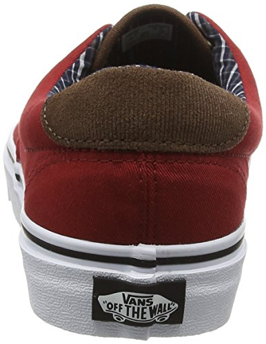 Vans Era 59, Zapatillas Unisex Adulto Negro (Cord & Plaid Red Dahlia/True White)