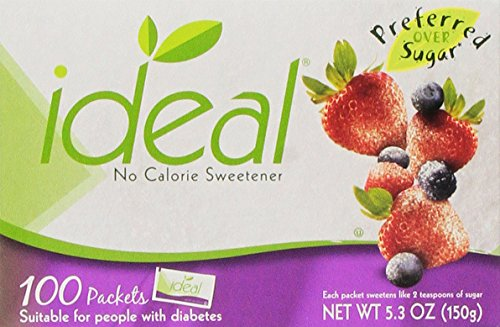 Ideal No Calorie Sweetener 100 Count Pack of 3 from Ideal