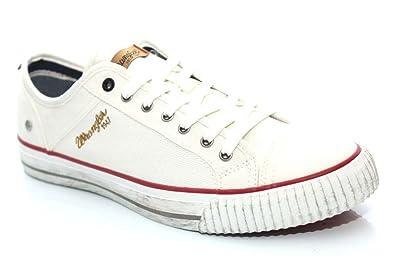 Wrangler - Zapatillas de Material Sintético para hombre Blanco blanco, color Blanco, talla 41 EU / 7 UK