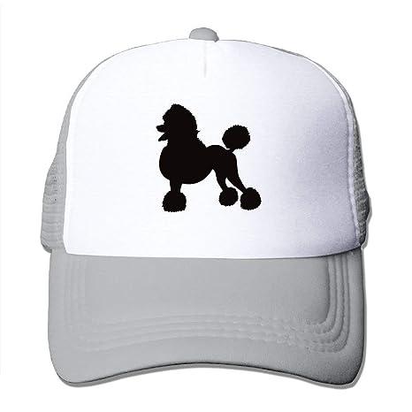 Poodle gorras de malla clásicas transpirables para hombre: Amazon ...