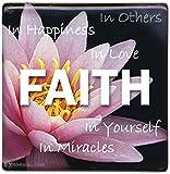 Faith Flower Porcelain Magnet by AngelStar by Angel Star