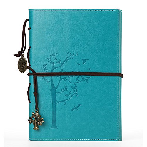 Refillable Journal Lined Pages Faux Leather Vintage Diary for Women,Daily Use Writing Set,Classic Notepad to Write in with Pen Holder/3 Dividers/Pendants,Creative Gift Idea for Valentine'sDay