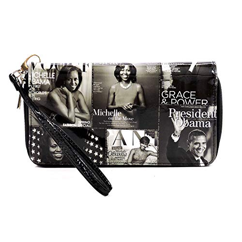 1 collage bags Glossy 2 Obama in satchel magazine with Gy Bk cover set Michelle purses wallet dome bag bowling bag SSqPTZEw