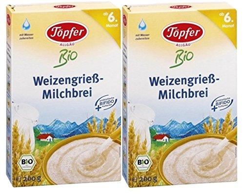 Cerámica orgánica gachas de sémola de trigo, 2-pack (2 x 200 g