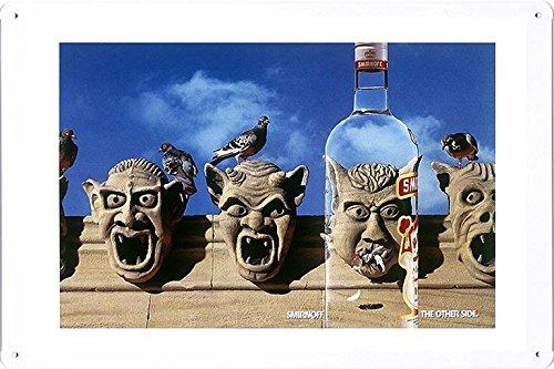 tin-sign-metal-poster-plate-8x12-of-smirnoff-vodka-gargoyles-by-food-beverage-decor-sign