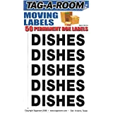 Tag-A-Room Box Content Moving Label (Dishes)