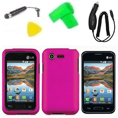 Phone Case Cover Cell Phone Accessory + Car Charger + Extreme Band + Stylus Pen + LCD Screen
