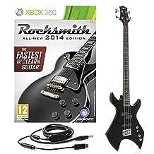 Rocksmith 2014 Xbox 360 + Harlem Bass Guitar by Gear4music Black
