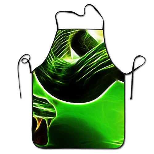 Animal Green Snake Deluxe Aprons Personalized Printing Kitchen Apron
