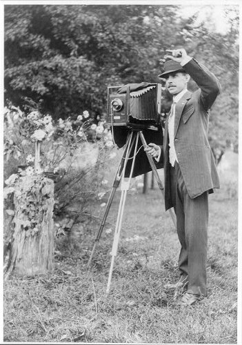 Vintography Reproduced 8 x 10 Photo of: A.W. Leonard with Large Camera 1911 National Photo Company