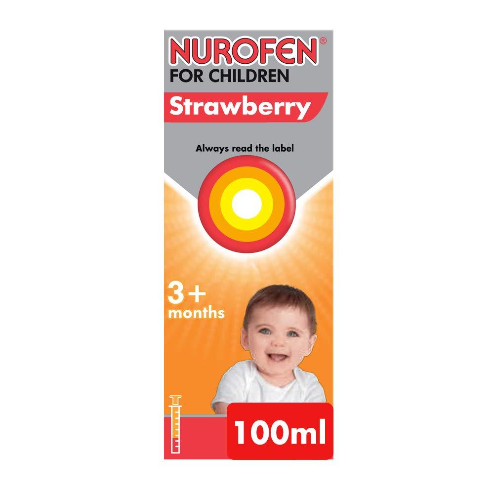 Nurofen for Children Baby Medicine Strawberry Ibuprofen, 100 mg - 3 Months Plus - 100 ml