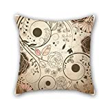 NICEPLW flower cushion cases 18 x 18 inches / 45 by 45 cm best choice for family,home,birthday,drawing room,bar,couples with twice sides
