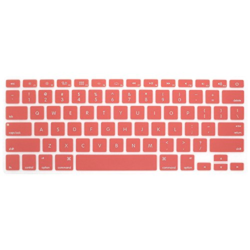 Board Protective Silicone Cover - GerTong For Mackbook Air 13' 15' 17' Keyboard Cover For MacBook Pro 13'15' 17' with Retina Silicone Skin Laptop Key Touch Fingerboard Protective Film (red)