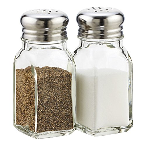 - Salt and Pepper Shaker Set (Clear Glass)
