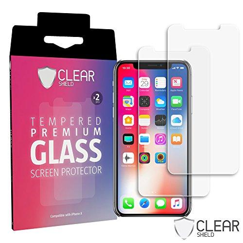 [2 Pack] Premium iPhone X 10 Tempered Glass Screen Protector - HD Clear, Case Friendly, Anti-Scratch - Free How to Install - For Fancy Word Glasses