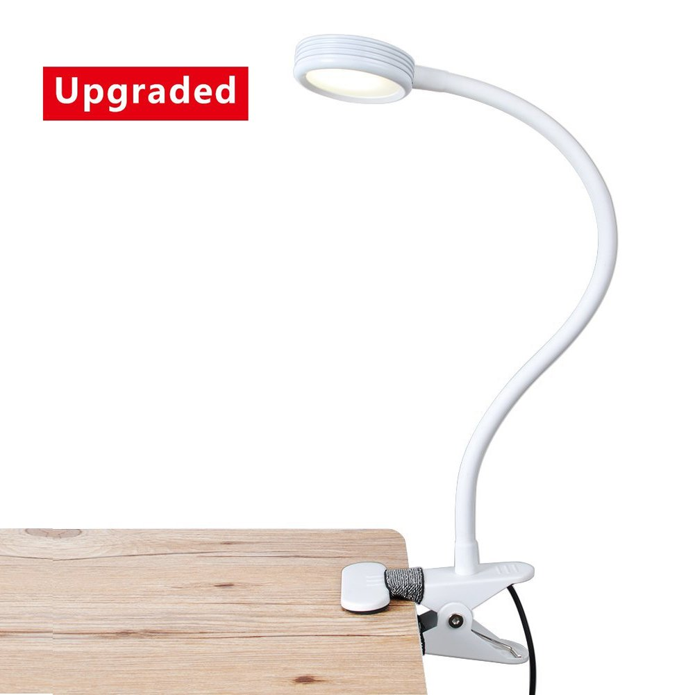 Eyoo LED Reading Light/Light Color Changeable/Night Light Clip on for Desk,Bed Light, Bed headboard and Computers (White) [Energy Class A+++]