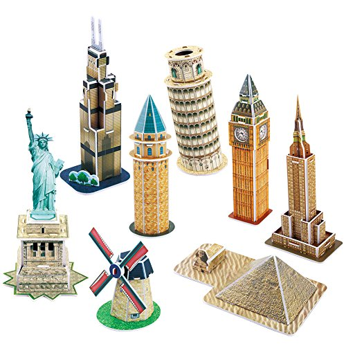 CubicFun Mini Great Architectural Model Kits 3D Puzzle Toys Collection-Option A,C102h (Electronic New York Puzzle)
