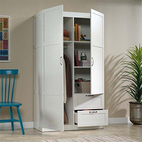 Sauder Large Storage Cabinet, Soft White Finish - HomeGoodsReview