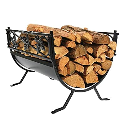 1.Go 18.5 Inches Indoor Decorative Firewood Rack, Fireside Log Rack for Fireplace