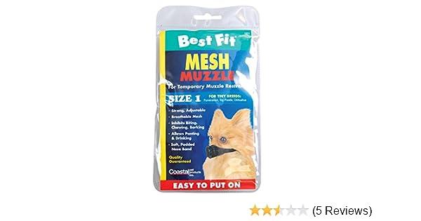 Coastal Pet BestFit Mesh Muzzle 01300-BLK06