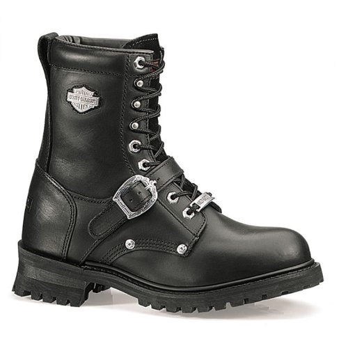 - Harley-Davidson Men's Faded Glory 8-Inch Motorcycle Black Boots D91003 Size 11.5 2E US