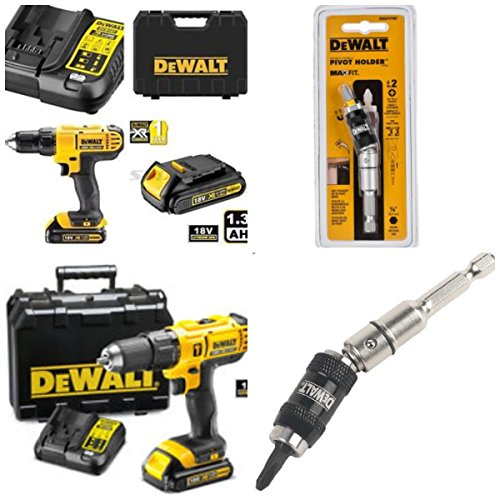 DEWALT 18V CORDLESS LITHIUM LXT COMBI DRILL,DRILL DRIVER WITH HAMMER ACTION FACILITY COMPLETE WITH LITHIUM BATTERY,FAST CHARGER,HEAVY DUTY CARRYING CASE