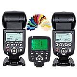 YONGNUO 2pcs YN-560 III Manual Flash Speedlite Light + YN560-TX LCD Wireless Manual Flash Controller For Nikon DSLR Cameras