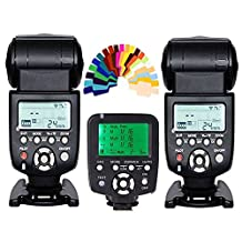 YONGNUO 2pcs YN-560 III Manual Flash Speedlite Light + YN560-TX LCD Wireless Manual Flash Controller For Nikon DSLR Cameras