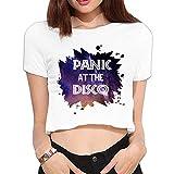 SYY Woman Panic! At The Disco Crop Top Size XL White