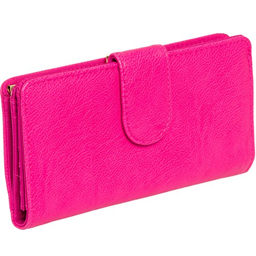 mundi-womens-suburban-rio-checkbook-clutch-wallet-hot-pink