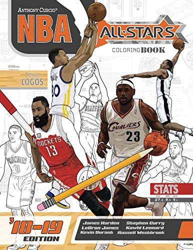 NBA All Stars 2018-2019: The Ultimate Basketball Coloring and Activity Book for Adults and Kids (All Star Sports Coloring) (Volume 5) par  Anthony Curcio