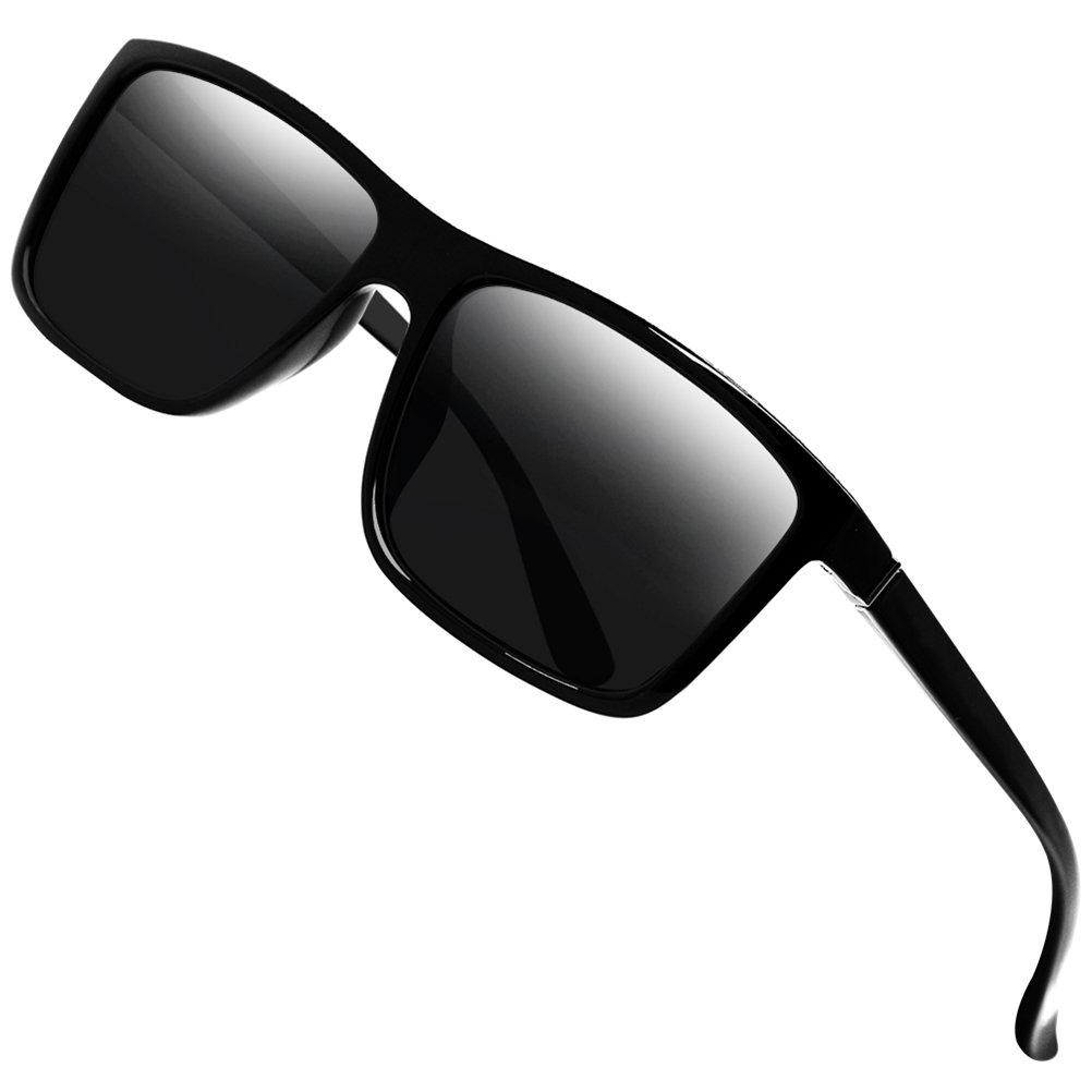 Polarized Sunglasses for Men Driving Mens Sunglasses Rectangular Vintage Sun Glasses For Men/Women Black2