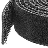 StarTech.com 50ft. Hook and Loop Roll - Cut-to-Size Reusable Cable Ties - Bulk Industrial Wire Fastener Tape - Adjustable Fabric Wraps - Black (HKLP50)