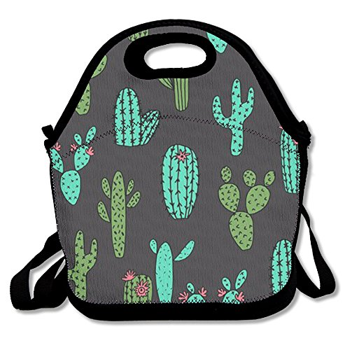 Cactus Travel Picnic Lunch Bag Lunchboxes Outdoor Lunch Box Bag Lunch Tote Lunch Pouch Handbag