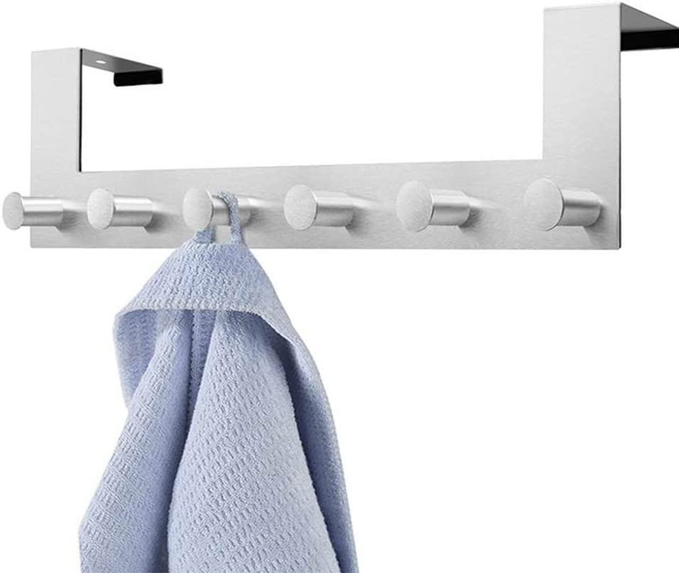 Gancho de puerta/ /dxlta perchero gancho de puerta en acero inoxidable dise/ño de dormitorio para abrigo//servilletas//sombrero anzuelo