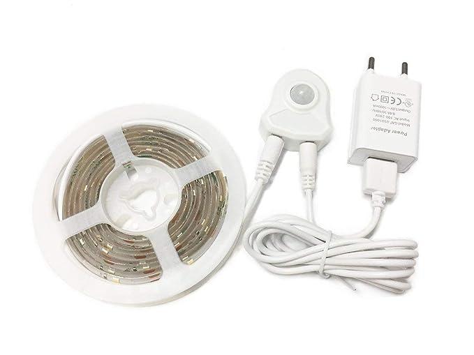 Movimiento activado Jindia cama de luz LED flexible, un coche Streifenlicht/De Bewegungsmelder Nachttischlampe