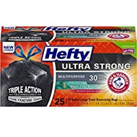 Deals on 25-Count Hefty Ultra Strong Large Trash Bags 30 Gallon