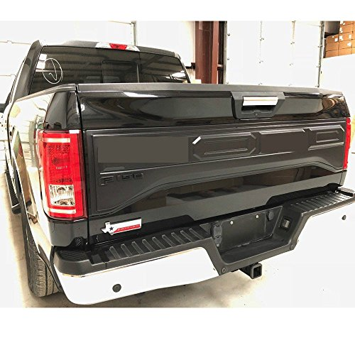 Tailgate Trim Panel (For Ford F150 Raptor Style 2015 2016 2017 Tail Gate Applique Rear Trim Panel)