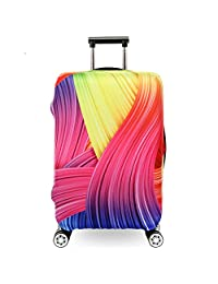 Fvstar Washable Luggage Cover,Suitcase Protective Bag,Luggage Dust Proof Cover