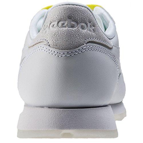 Reebok Zapatillas CL Face Blanco/Amarillo EU 37.5