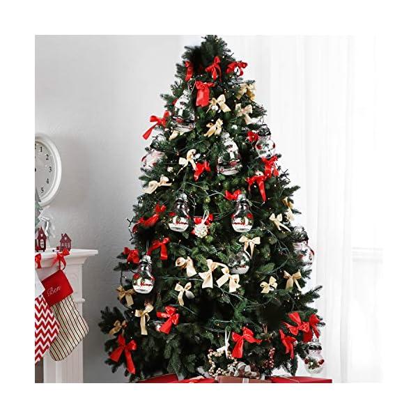 Palle di Natale Plastica (Set da 12)- Palline di Natale Trasparenti Forma Babbo Natale e Pupazzo Neve, 4 Cadauno per Decorazioni Natalizie, Addobbi per Feste di Compleanno, Addobbi Natalizi per Albero 7 spesavip
