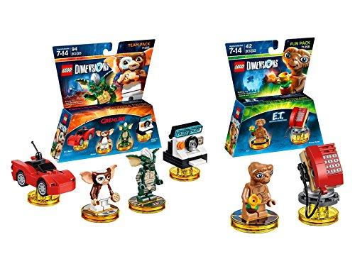 Gremlins Gizmo Stripe Team Pack + E.T. Phone Home Fun Pack - Lego (Jurassic Park Island Attack)